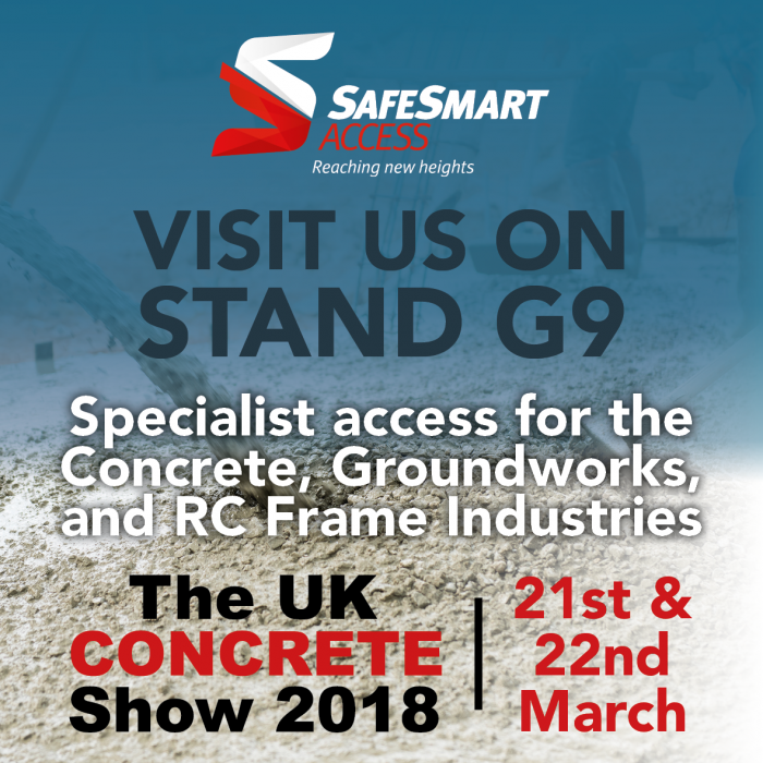 SafeSmart Access to Exhibit at The UK Concrete Show 2018